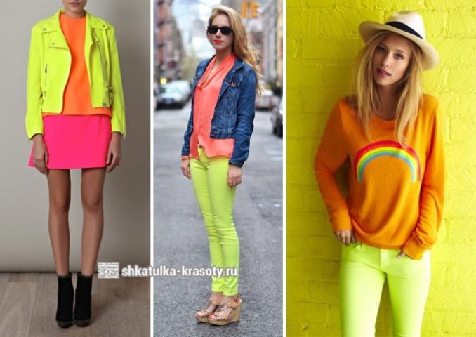 the combination of colors in clothes is lime