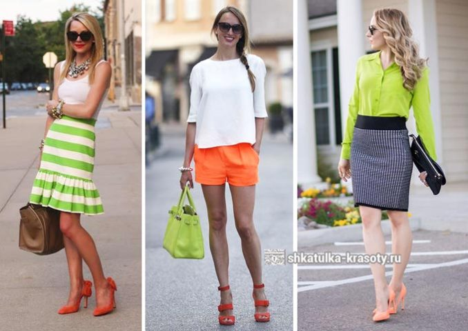 light green with orange in clothes