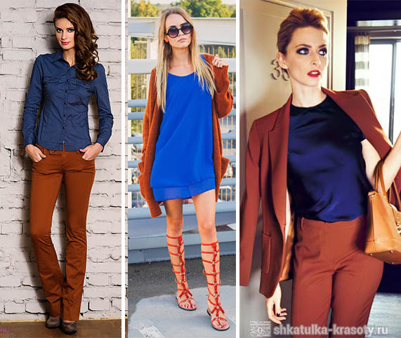 what color is combined with terracotta in clothes