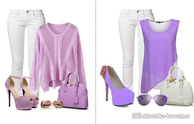 lilac color in clothes