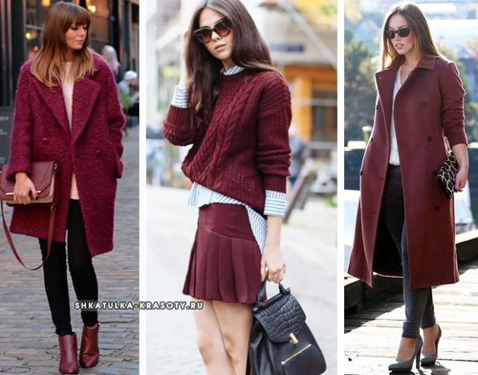 Marsala color with different clothes