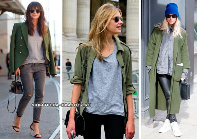 what color is combined with khaki in clothes
