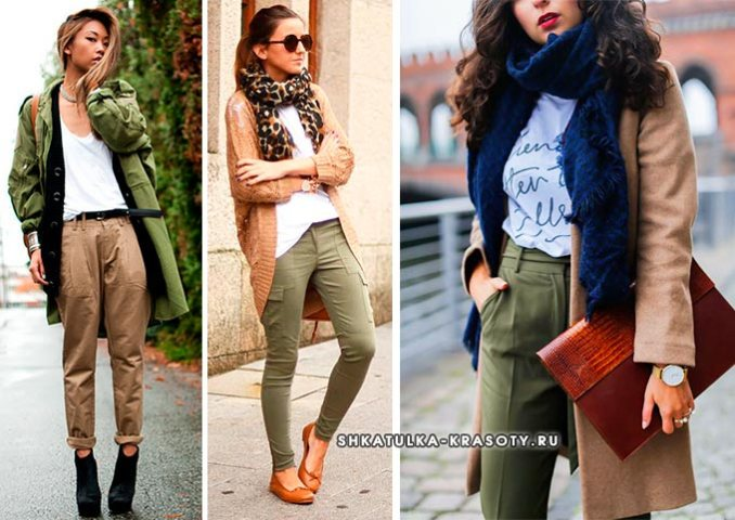 khaki with what to combine in clothes