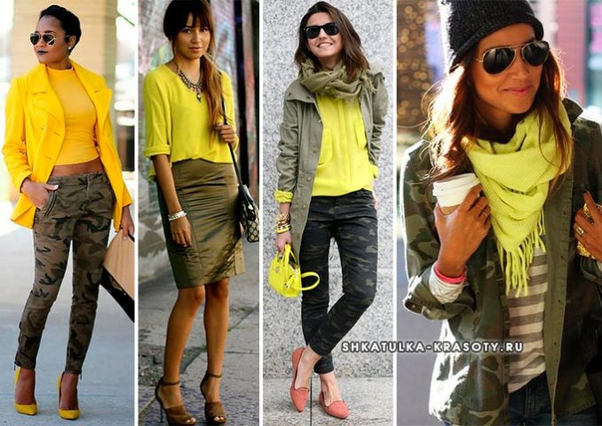 combination of colors in clothes khaki