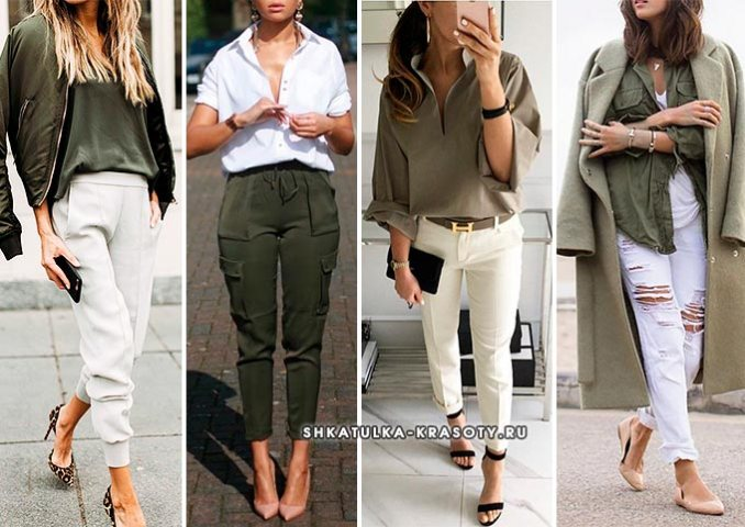khaki in clothes