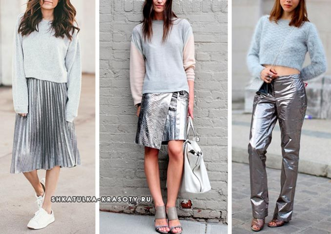 silver color in clothes combined with gray