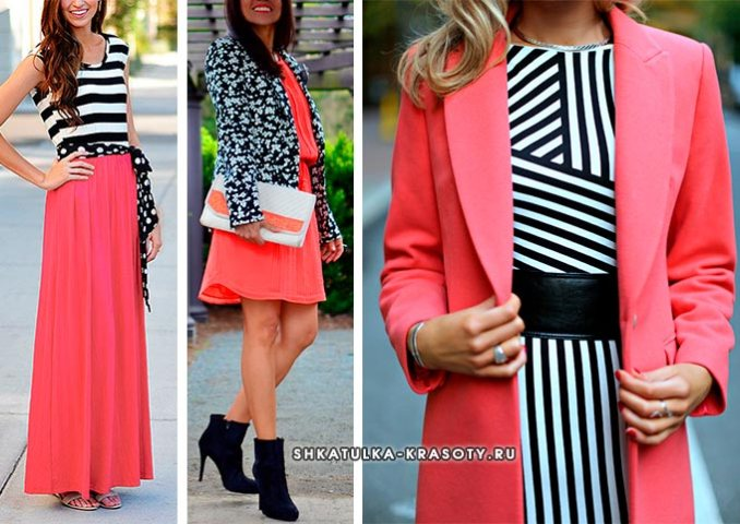 coral color in clothes