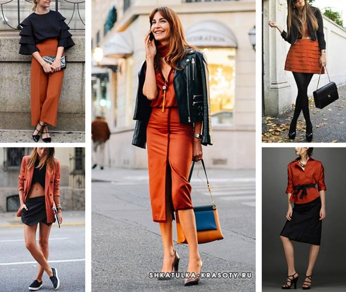 terracotta and black