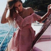 Платье узором сеточка