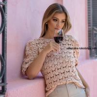 Стильная женская блуза крючком