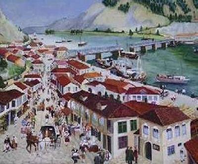 Pikturë e ish-tregut i Shkodrës
