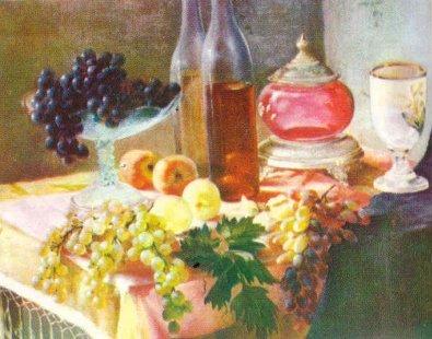 Rrush dhe pjeshkë, natyrë e qetë në vaj
