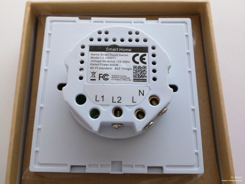 hight resolution of lanbon wifi light switch back