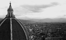 Florence and the dome of the basillica. Designed by Brunelleschi in 1436, it was, and still is, an engineering marvel.