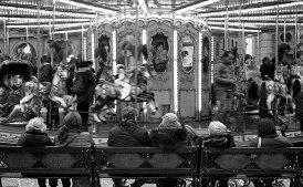 The carousel in Piazza della Repubblica.