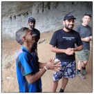 Interviewing local cave person.