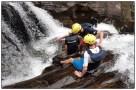Teamwork and leadership during canyoning.