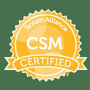 Certified Scrum Master Badge glyph