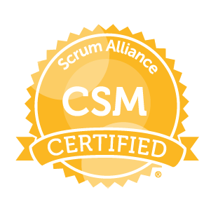 Certified Scrum Master Badge glyph