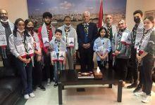 Photo of سفير فلسطين بالرباط يستقبل وفد الكشفية الحسنية المغربية