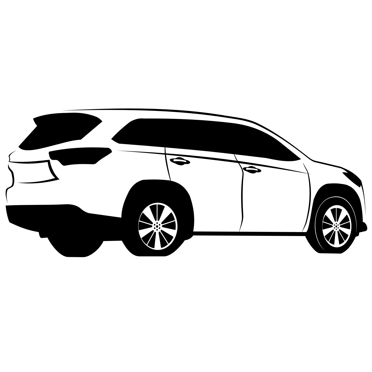 Vector For Free Use Toyota Highlander Vector