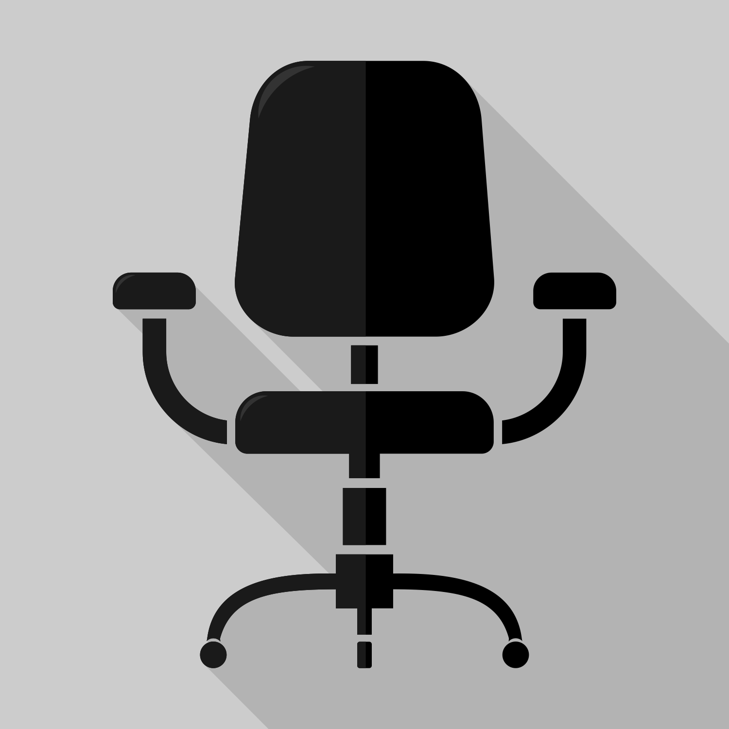 office chair vector roll up mat for free use
