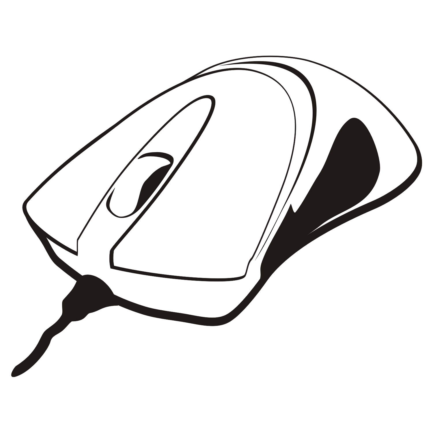 Vector for free use: Computer mouse