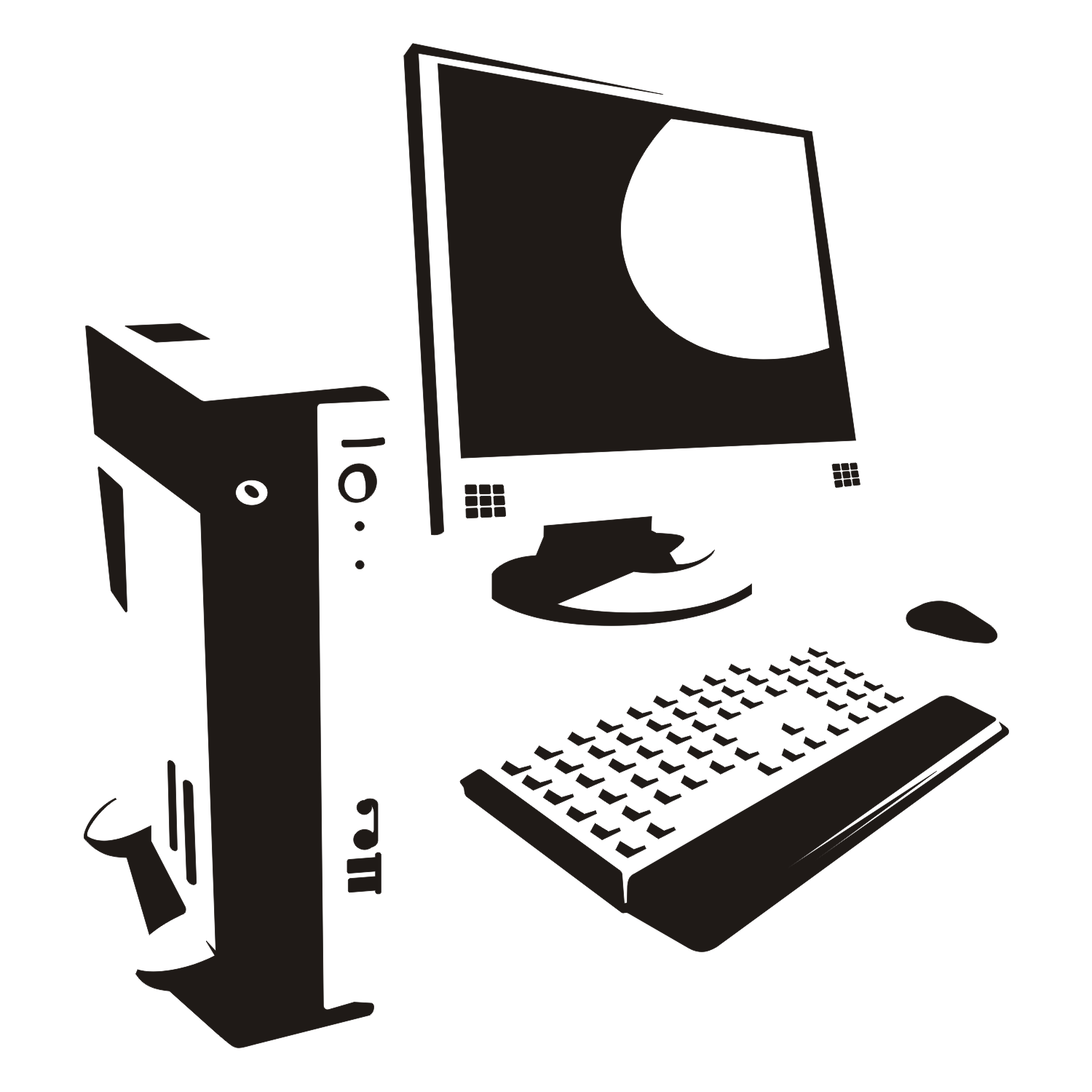 Vector For Free Use Computer Silhouette