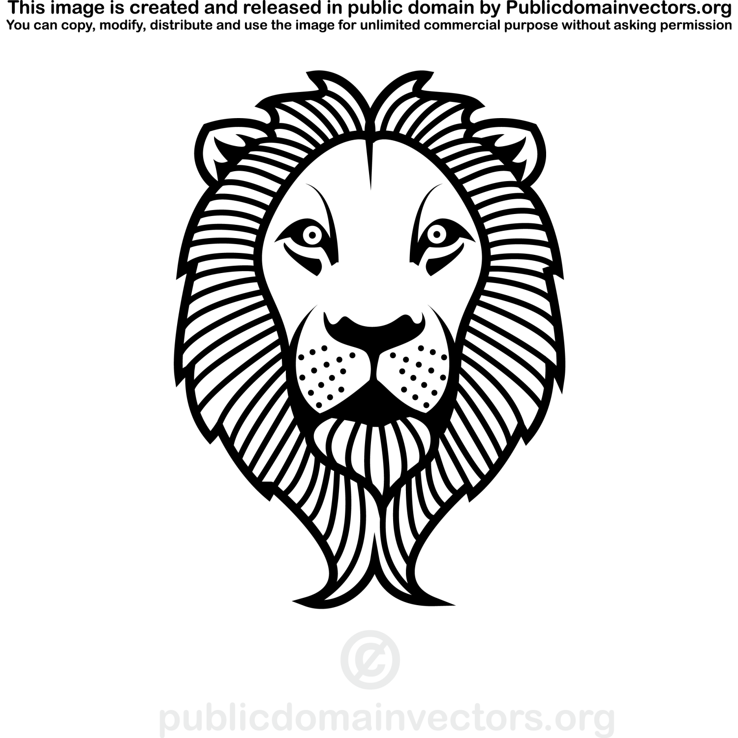 Vector For Free Use Lion S Head Vector Clip Art