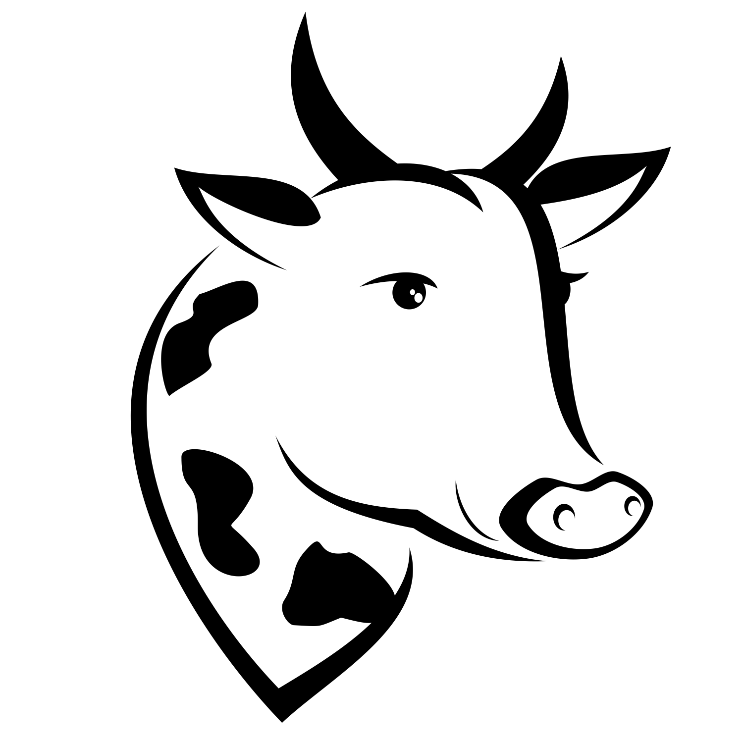 Vector For Free Use Vector Cow S Head