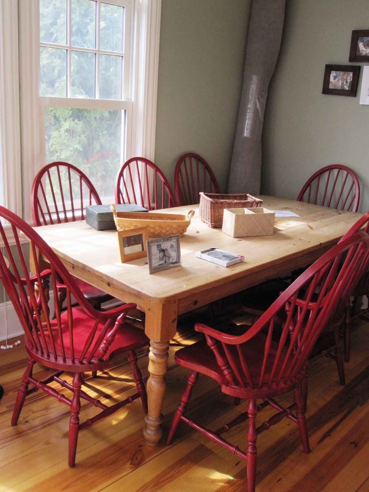 Red Windsor Chairs Shmooples