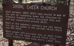 Shoal Creek Church sign