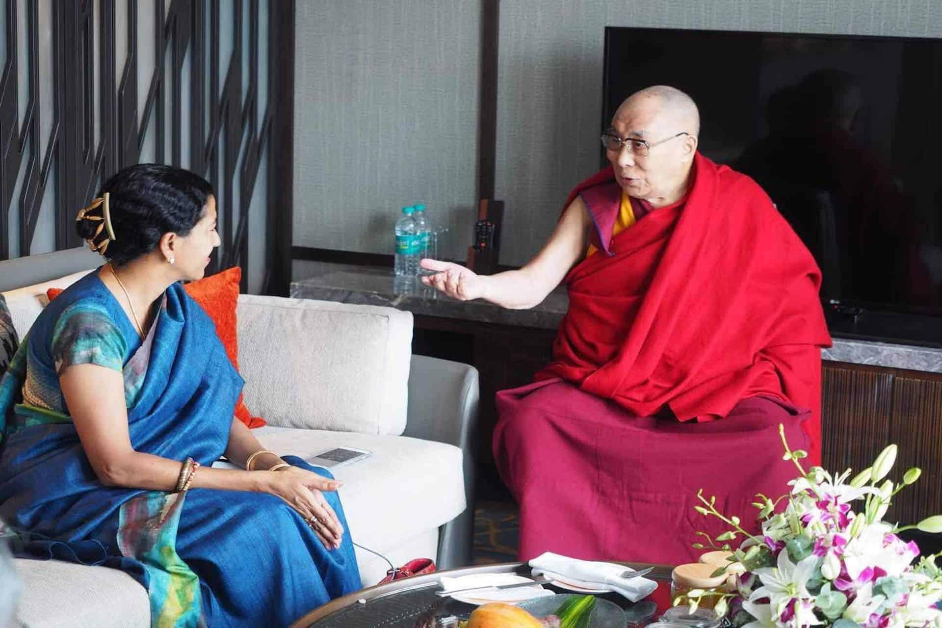 Shoba Narayan with The Dalai Lama