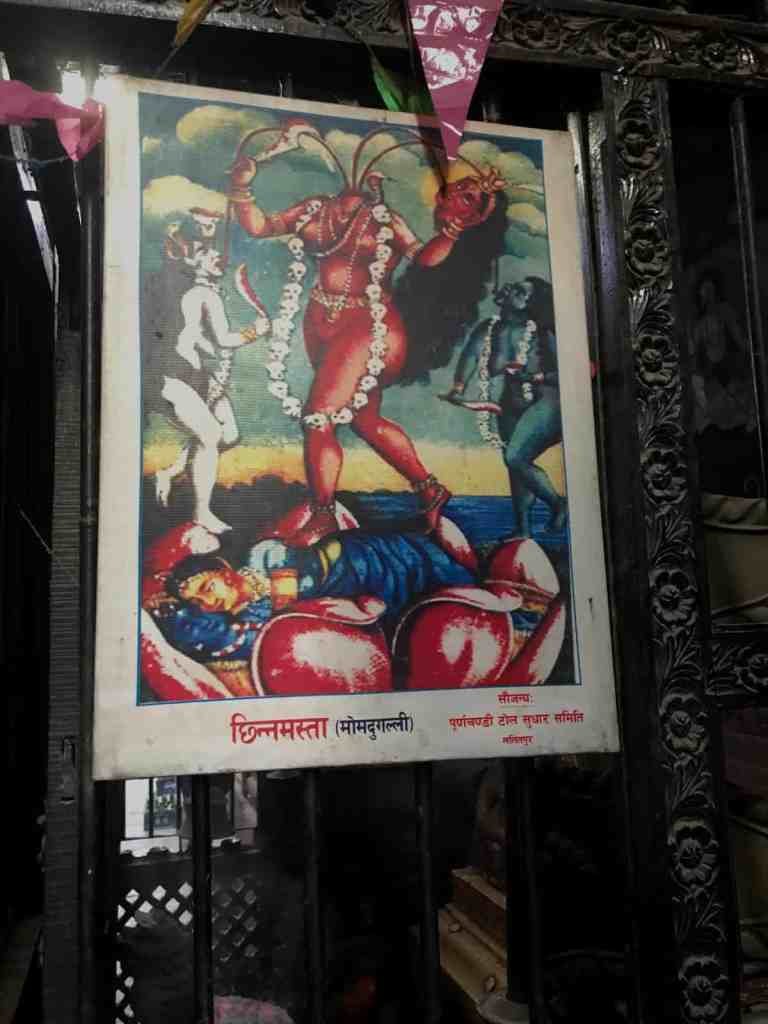 Poster of the Hindu goddess, Chinnamasta
