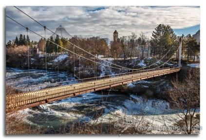 Riverfront Park suspension bridge