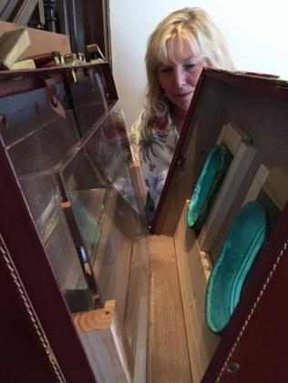 Susan Amorde, inner workings of water baggage sculptures