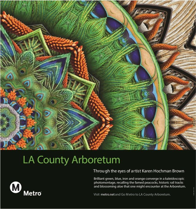 Karen Hochman Brown gets a special commission by the LA Metro to bring art to the streets