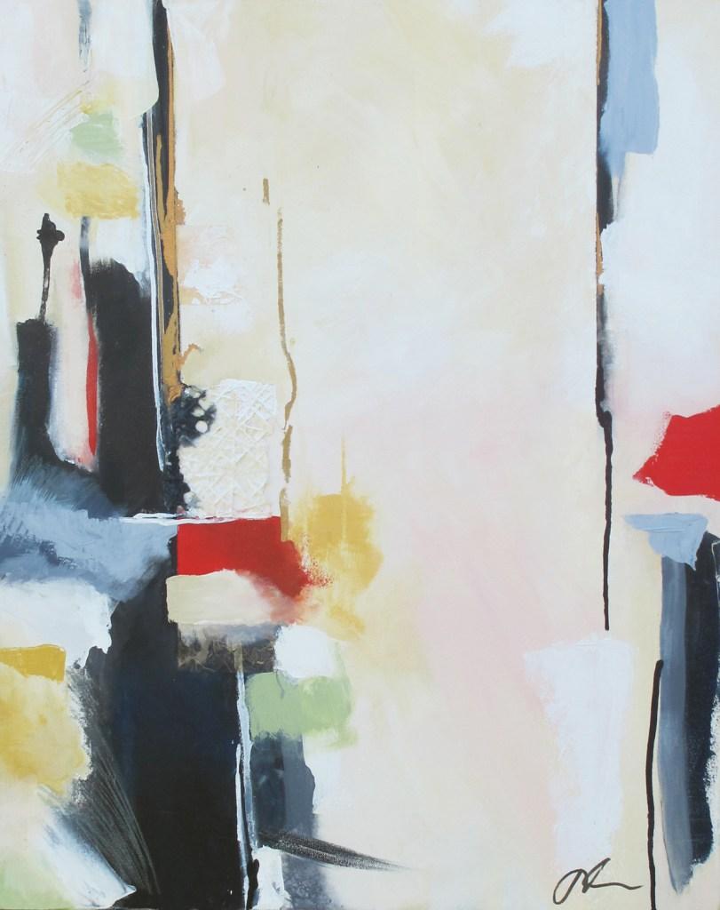 "Bruland, 2019 Acrylic, Ink, Gesso on Canvas 24"" x 30"""