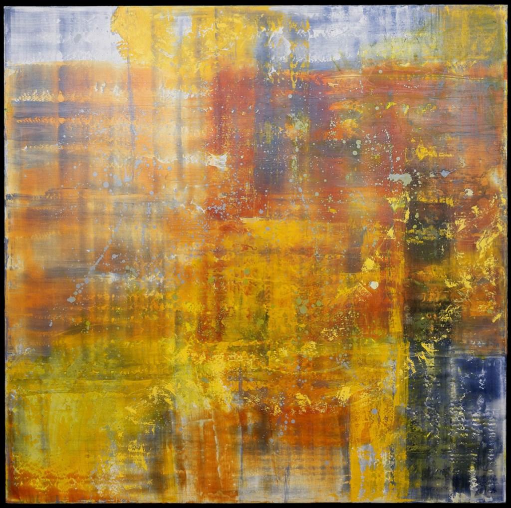 "Chasing Cornflowers, 2019 Acrylic on canvas 60"" x 60"""