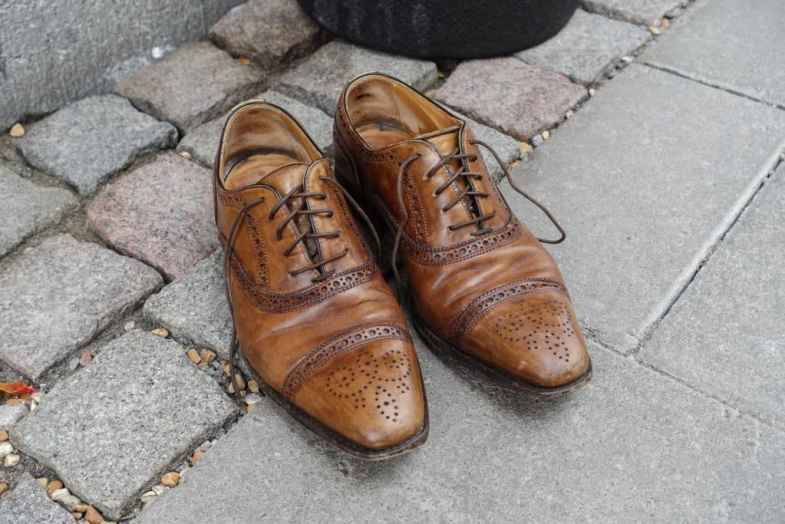 The shoes had felt good to get to have shoe trees in a little more often, and though they trimmed occasionally had happily been made more frequent.