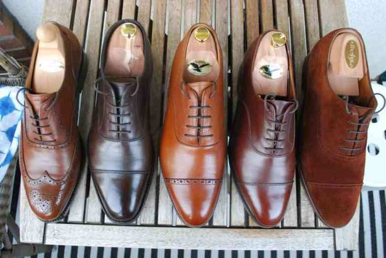 A size comparison with some other more or less classic round lasts. From the left: Vass F, Loake Capital, Meermin Hiro, Crockett & Jones 236 and John Lobb 7000.