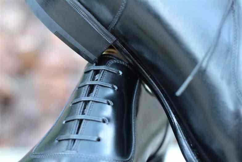 The waist seen from the side of an Antonio Meccariello Aurum shoe. Picture: Antonio Meccariello