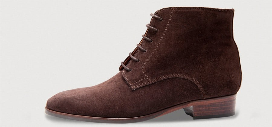 Women's derby boot in brown suede. Pictures: Crowhnill Shoes