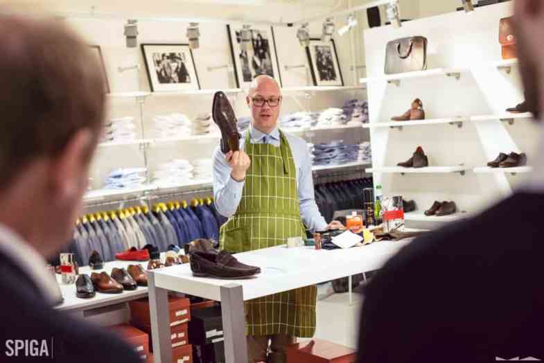 Me at a shoe care event with Italigente at Spiga 3. Picture: Milad Abedi