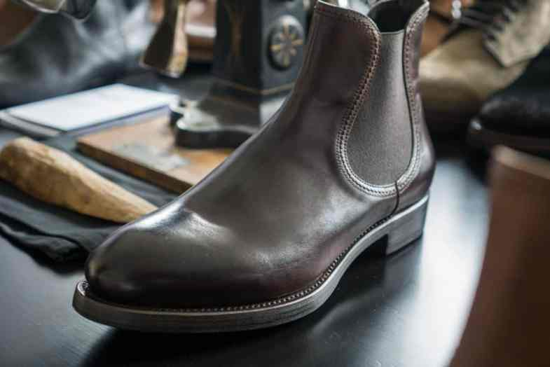 A chelsea boot that Antonio Panella designed, where one can see the relationship with some of what he did with Paul Smith.