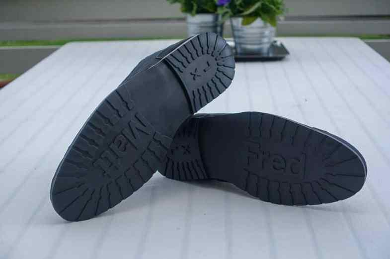 The soles.
