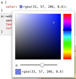 Color editor in Chrome