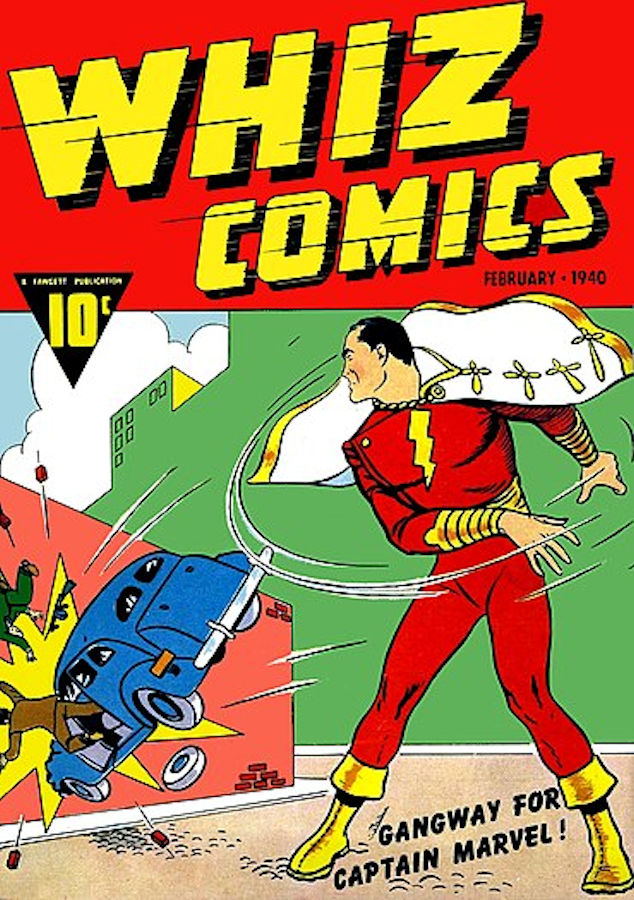 C. C. Beck - Cover from Whiz Comics #2, February 1940