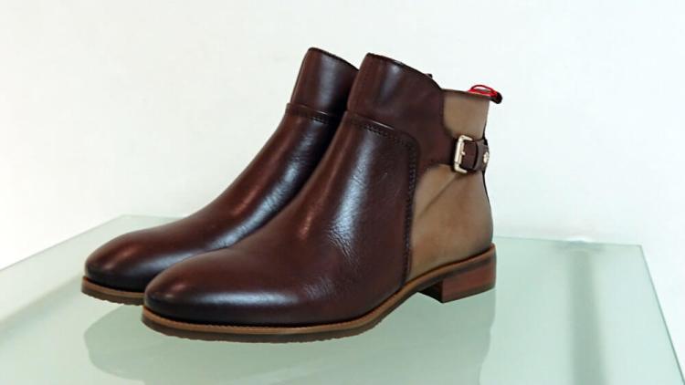 靴 ピコリノス レディース ショートブーツ ダークブラウン コンビ