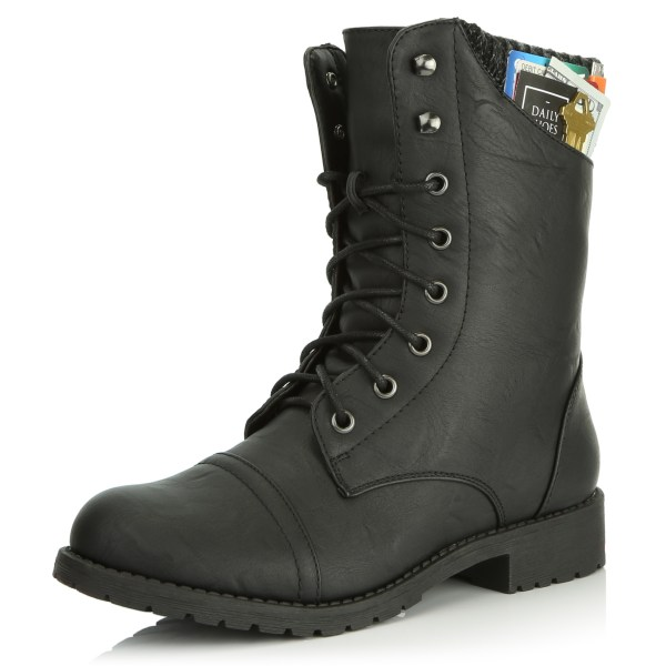 Sweater Ankle Combat Boots for Women